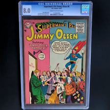 SUPERMAN'S PAL JIMMY OLSEN #8 💥 CGC 8.0 💥 SCARCE - ONLY 1 HIGHER! DC 1955