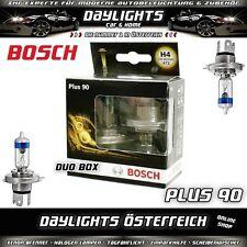 Bosch H4 Plus 90 Duobox bis zu +90% mehr Licht Halogen Lampen