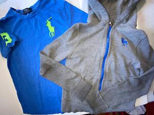 Lot /  2 Abercrombie & Fitch Zip Hoodie  Ralph Lauren Logo T-Shirt Boys M 10/12