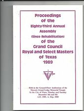 Proceedings 83rd Royal and Select Masters, TX., 1989, Lot 33