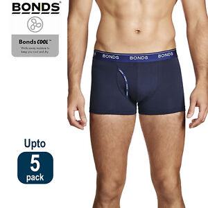 Bonds Navy Mens Guyfront Trunks Briefs Boxer Shorts Comfy Undies Underwear Bulk