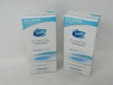 LOT OF 2 Secret Clinical Strength Antiperspirant Deo Soft Solid Waterproof 2.4OZ