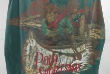 Vintage Men's Ralph Lauren Sportsman Green Plaid Canoe Outdoor Shirt size XL
