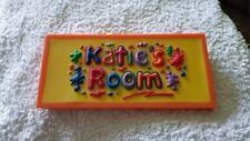 Katie's Room Sign  Bedroom Playhouse Sign Personalised Door Plaque Playroom Used