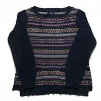 Womens Vintage Chaps Jumper Medium Patterned Pullover.