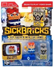 NEW Sick Bricks MACHO MIKE & CHEESE GRATER Beam + Play 8 Pieces SPIN MASTER  6+
