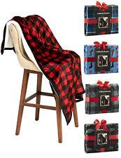 Ashford & Brooks Soft Plush Warm Sherpa Reversible Mink Fleece Throw Bed Blanket