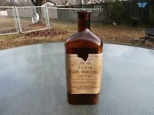 FE 45 FLUID TAR,SOLUBLE FOR SYRUP BOTTLE WITH LABEL-UNITED DRUG COMPANY BOSTON