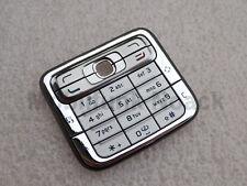 Original Nokia N73 Tastatur   Tastaturmatte   Keypad   Keymat Silber Grau NEU