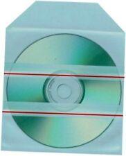 Pack de 100 FUNDAS AUTOADHESIVAS para CD / DVD - SOBRES PLASTICO 12 cm - CALIDAD