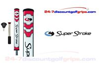 Superstroke Flatso 2.0 putter grip with counter core - Red -  FREE TAPE!!