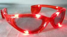 RED color LIGHT UP FLASHING EYE GLASSES  sunglasses lightup blinking