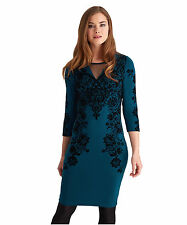 Viscose 3/4 Sleeve Floral Dresses for Women