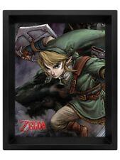 The Legend of Zelda Poster Twilight Princess 3D Framed Lenticular 20x25cm