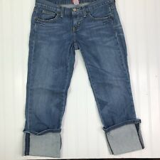 The Limited Womens size 4 Jeans Cropped Capri Cuffed Drew Jean Stretch
