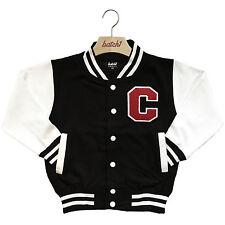 infantil Chaqueta Beisbol Varsity personalizado con verdadero Uni Letra Basha