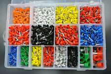 2120Pcs Insulated Cord End Terminal Bootlace Cooper Ferrules Kit Set Wire Copper