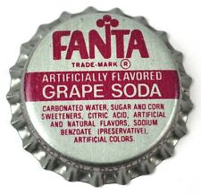 Coca-cola Fanta Grape soda tapita estados unidos soda bottle cap plástico sellado