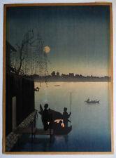 Eijiro Kobayashi Summer Evening on the Sumida River Hasegawa Edition