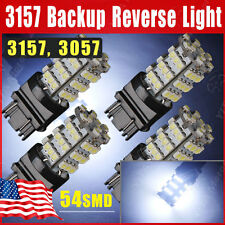 4x 7000K Cool White 3157/3156/3057 54-SMD Backup Reverse DRL LED  Light Bulbs