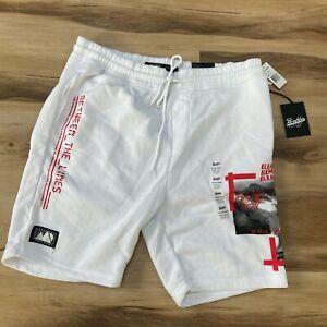 Brooklyn Cloth Knit Shorts Mens XL White NEW