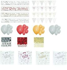 ANNIVERSARY PARTY BANNERS BALLOONS BUNTINGS 25 40 50 60 WEDDING DECORATIONS (SE)