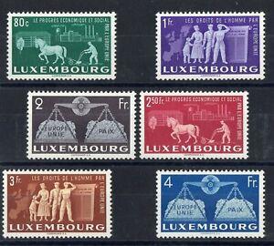 Luxembourg: Serie Completa Di 6 Francobolli Nuovo N°443/448 Valore