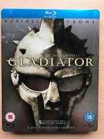 Russell Crowe Gladiator 2000 Roma Epic Rare UK Blu-Ray Caja Metálica