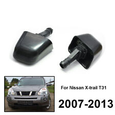 Pair Front Headlight Washer Jet Nozzles Kit For Nissan XTrail X-Trail T31 07-13
