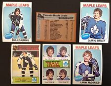1975-76 Topps Toronto Maple Leafs Team Set (18) EXMT-NM w Salming & Sittler 1975