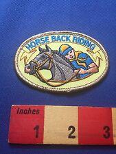 Fun HORSE BACK RIDING Patch ~ Equestrian 73XO