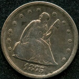 1875-S (VF) 20C TWENTY CENT PIECE