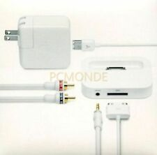More details for apple stereo connectivity kit for ipod white (m9339ll/c)