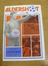 18/05/1977 Aldershot v Cambridge United  (folded).  We are pleased to be able to