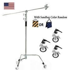 Heavy Duty Light Reflector C Stand with Boom Arm Castor Wheels And Sandbag