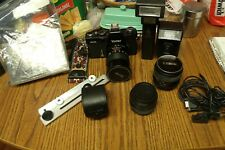 VINTAGE VIVITAR CAMERA 220/SL WITH EVERYTHING FROM LENS, 2 FLASHES, INSTRUCTIONS