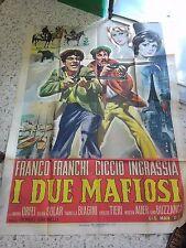 LOCANDINA FRANCO FRANCHI CICCIO INGRASSIA I DUE MAFIOSI 200x140 RARA!!!