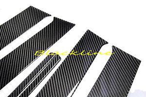 For 08~15 Mitsubishi Lancer 10th EVO X Carbon Fiber 4-Door Trim Pillar Panel MR