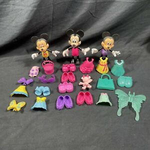 Disney Minnie Mouse Bow-Tique Dress Up Snap on Clothes & Accessories Lot Of 24!