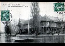 BOIS DE VINCENNES (94) VOILIER à la MAISON FORESTIERE en 1909