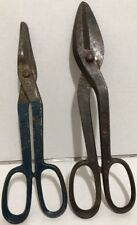 "Wiss & Sons 8 Forged Steel Tin Snips Sheet Metal Shears 14"" & 12.75"" Duck Bill"