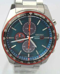 Seiko Men's Solar Chronograph Stainless Steel SSC717P1 +Worldwide Warranty IT*au
