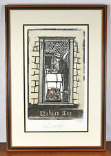 Amish Woman Wash Day Framed Numbered Picture Print Signed by Artist Greg Kempf