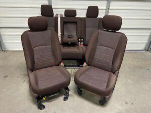 2003-2018 DODGE 1500 2500 3500 FRONT & REAR MEGA CAB SEATS BROWN CLOTH