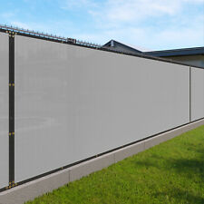 gray 240GSM 8ft Privacy Screen Fence Commercial Windscreen Mesh Cover