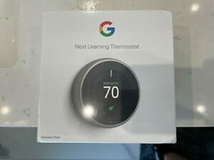 Nest Learning Programmable Thermostat - Stainless Steel (T3007ES) 3rd Generation