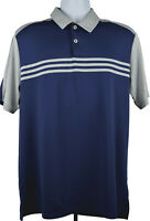 Adidas Golf Polo Climacool Shirt Mens Size Medium Color Blue Grey Short Sleeve