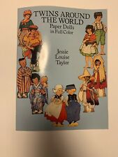 Jessie Louise Taylor Twins Around the World Paper Doll Book 1989 Uncut