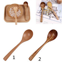 Wooden Spoons Rice Soup Home Utensils Flavoring Condiment Catering Scoop