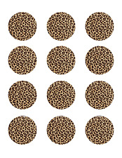 Leopard Pattern cup Cake Image Personalised Birthday Decoration Party Topper